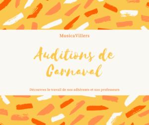 Auditions de Carnaval